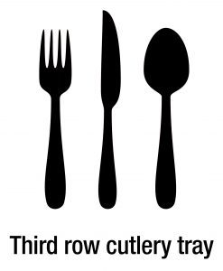 Icon Third row cutlery tray