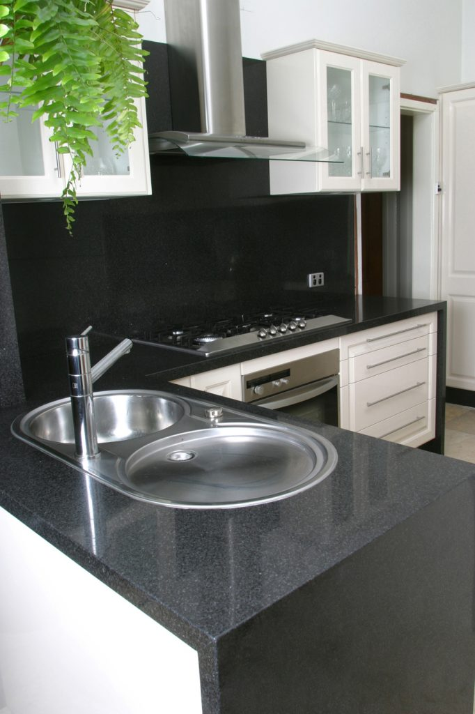 black kitchen after