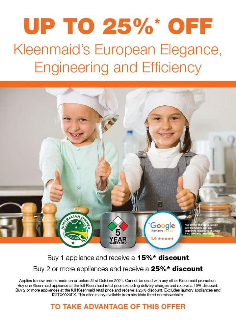 J12454 Kleenmaid October Promotion Sept2021 Web 766x1036px 01